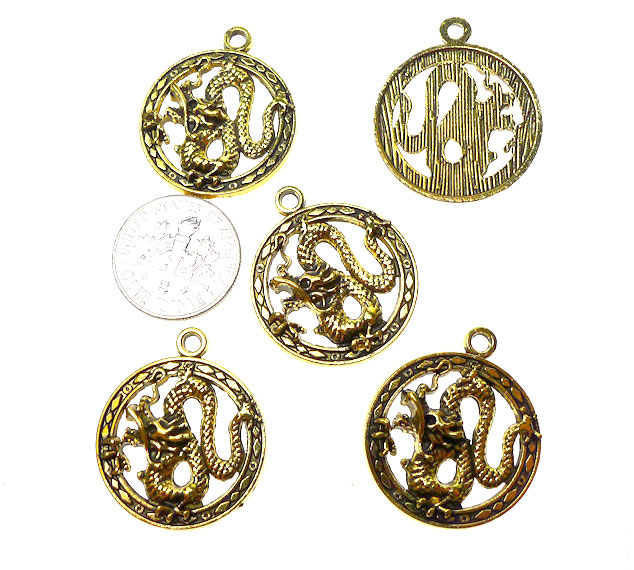 wholesale gold charms antique gold pewter