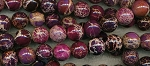 10mm Round Purple Sea Sediment Jasper Beads - CLEARANCE