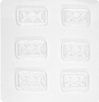 Triple Moon Chocolate Mold Goddess Candy Mold Silver