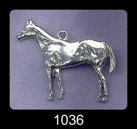Sterling silver horse pendant large stallion necklace aloadofball Gallery