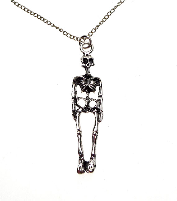Skeleton necklace 3d skeleton necklace aloadofball Image collections