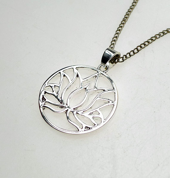 Silver lotus pendant necklace lotus flower necklace egyptian jewelry lotus necklace add to favorites audiocablefo