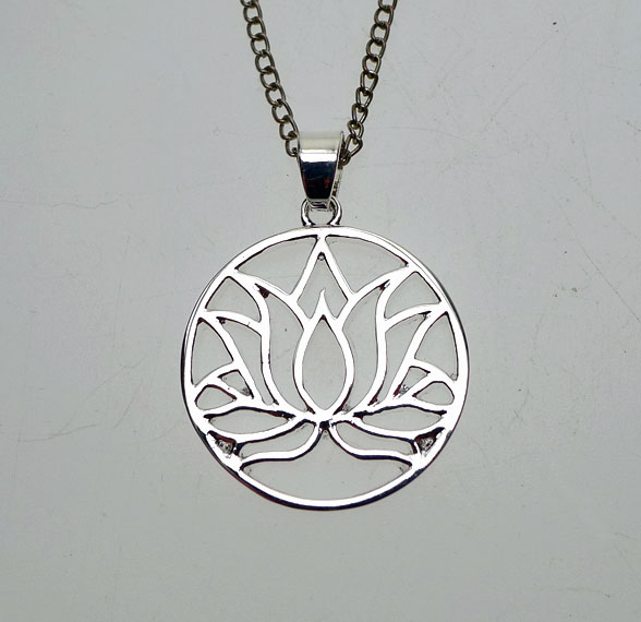 Silver lotus pendant necklace lotus flower necklace egyptian jewelry audiocablefo light catalogue