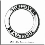 Sterling Silver BEAUTIFUL Affirmation Ring Necklace Charm