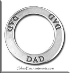 Sterling Silver DAD Affirmation Charm