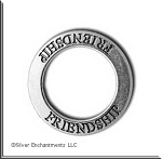 Sterling Silver FRIENDSHIP Charm, Friendship Affirmation Ring