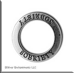 Sterling Silver Sobriety Charm, SOBRIETY Affirmation Ring Necklace, Recovery Jewelry