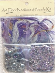 SOLD - Art Fiber Necklace Kit, Purple Mystique II