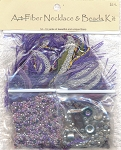 Art Fiber Necklace Kit, Purple Mystique