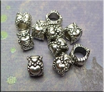 Large Hole Fancy Heart Beads 6x8x8.5mm (10)
