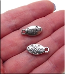 Oval Double Sided Imagine Charm