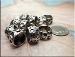 Pebble Patterned Large Hole Ring Spacer Bead European Style Big Hole Beads (1)