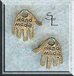 Silver Hand Made Hand Jewelry Tags, Antique Silver Hand Charms (1)