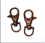 Lobster Swivel Clasp for Key Rings Bag Charms Antique Copper 38x17mm
