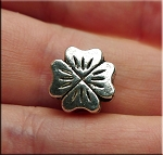 4-Leaf Clover Large Hole Bead, Shamrock Big Hole Bead