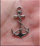 Silver Anchor Pendant Earrings - Everyday Anchor Jewelry
