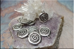 Wholesale Rustic Swirl Charms, Spiral Charms Bulk (10)