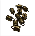 Wholesale Brass End Caps for Braided Jewelry and Horsehair Projects, 8mm Opening Bulk (10)