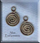 Celtic Spiral Charm, Spiral Necklace, Spiral Earrings