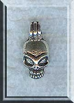 Skull Necklace, Bailed Alien Skull Charm, Alien Necklace