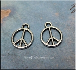 Silver Peace Sign Necklace - Everyday Peace Symbol Jewelry