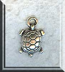 Silver Small Turtle Charms, 15x10mm Pewter Turtle Charms Bulk (20)