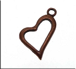 Copper Heart Charm 19x15mm (1)