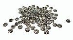 Pewter 4mm Daisy Spacers Antique Silver Jewelry Spacer Beads (100)