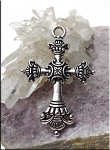 Tibetan Silver Large Ornate Cross Pendant, 52x35 Cross Jewelry