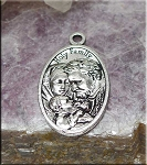 Holy Family Communion Medal, Silver Communion Necklace, Catholic Jewelry