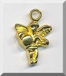 Wholesale Angel Charms Bright Gold Finish Bulk (10)