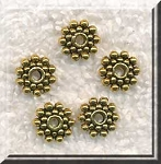8mm Snowflake Jewelry Spacers Antique Gold Spacer Beads Bulk (40)