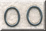 Oval Jewelry Rings Antique Silver 20x15mm Bulk (10)