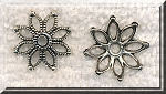 Silver Large Flower Bead Caps, Antique Silver Pewter 17.5mm Beadcaps, Bulk (20)