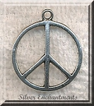 Domed Peace Sign Pendant, Peace Symbol Jewelry