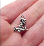 Witch on Broom Necklace - Everyday Silver Witch Jewelry
