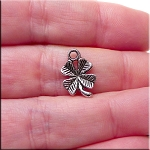 Tinbetan Silver 4-Leaf Clover Charms, 15x10mm Small Shamrock Charms, Bulk (15)