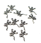 Love Fairy Charms Fairy Holding a Heart Charms Bulk (10)