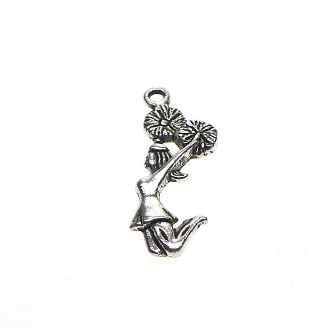 Wholesale silver cheerleader charms cheerleading pendants bulk 10 aloadofball Image collections
