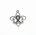 Ribbon Fleur-de-lis Pendants Lily of New Orleans Pendants Wholesale Bulk (10)