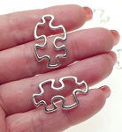 Puzzle Piece Jewelry Connector, Autism Awareness 30x18mm
