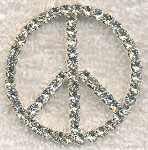 40mm Crystal Peace Pendant with Hidden Beader Bails
