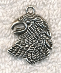 Eagle Charm-Pendant, 25x20mm Silver Eagle Jewelry