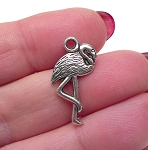 Double Sided Flamingo Charms Flamingo Bird Charms Bulk (10)