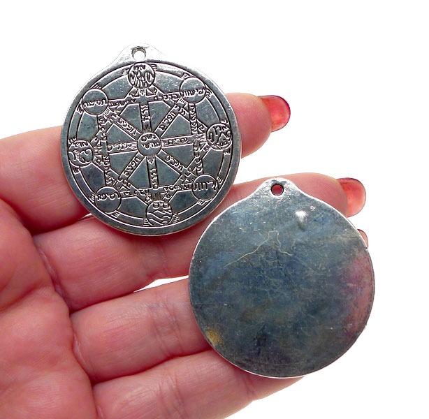 Large Kabbalah Tree Of Life Pendant Necklace Silver