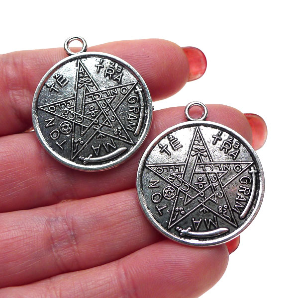 Classic tetragrammaton pendants antique silver double sided tetragrammaton pendants antique silver double sided 10 mozeypictures Gallery
