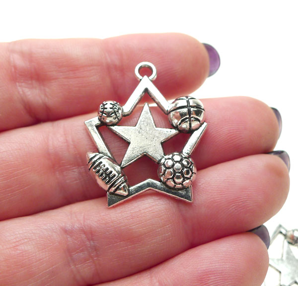 All star sports pendants antique silver pewter sports jewelry silver all star sports pendants antique silver pewter sports jewelry pendants bulk 10 mozeypictures Gallery