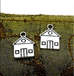 Double Sided House Charm Tibetan Silver Charms for Realtor Jewelry (1)