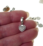 Heart Glue-on Bails, Antique Silver 19x9.5mm (20)