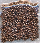 Copper 5mm Daisy Spacers, Antique Copper Pewter Spacer Beads, Bulk (100)